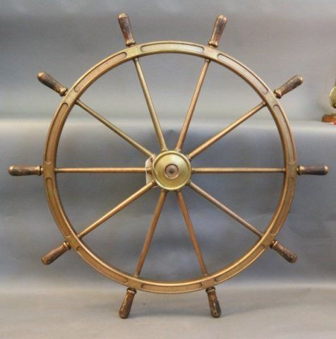 Four-Foot Solid Brass Ship's Wheel
