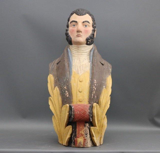 Carved Ship's Figurehead of Gentleman