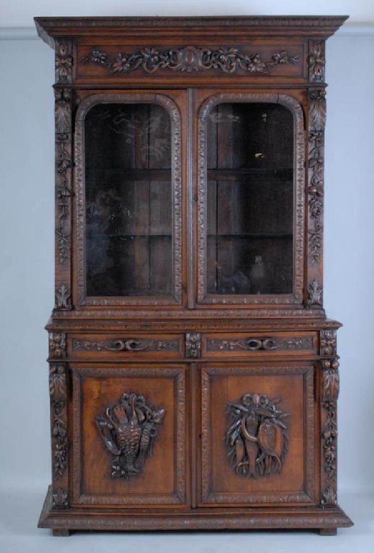 Rare Alexander Roux Renaissance Revival Bookcase