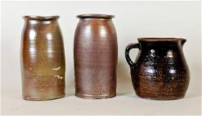 3 Pieces of Southern Stoneware