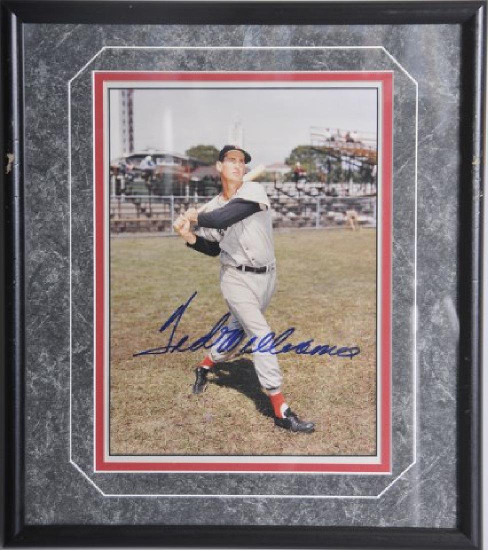 Ted Williams Autographed Photo