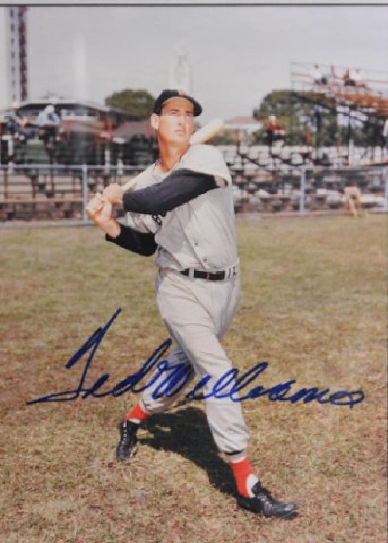 Ted Williams Autographed Photo - 2