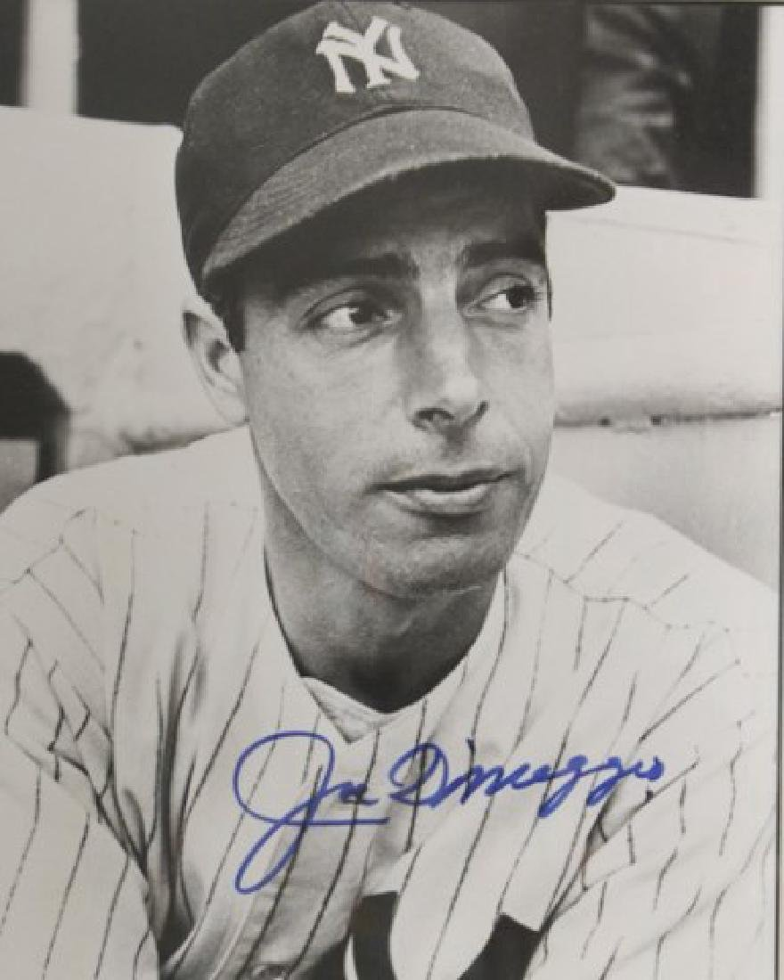 Joe DiMaggio Autographed Photo - 2