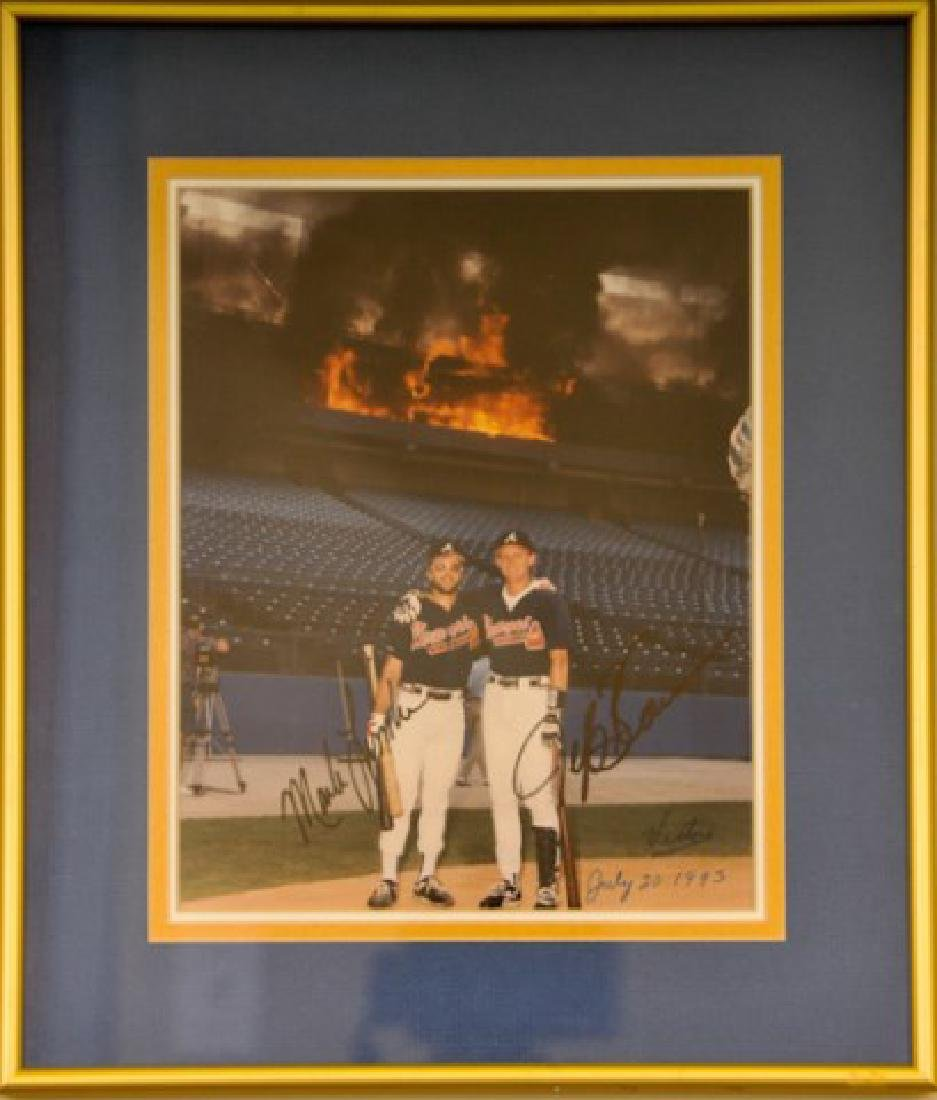 Mark Lemke & Jeff Blauser Autographed Photo