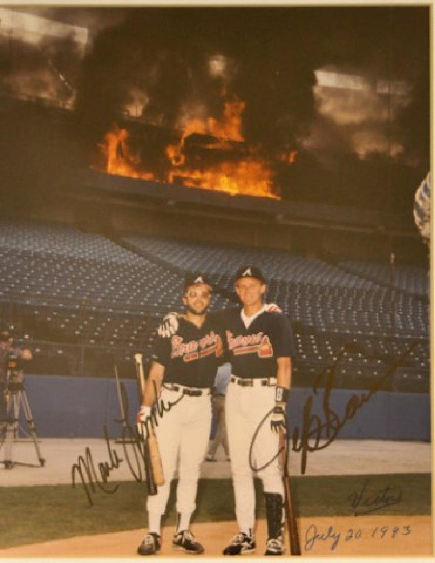 Mark Lemke & Jeff Blauser Autographed Photo - 2