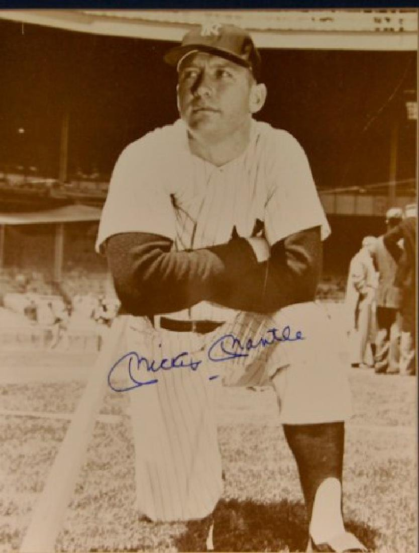 Mickey Mantle Autographed Photo - 2