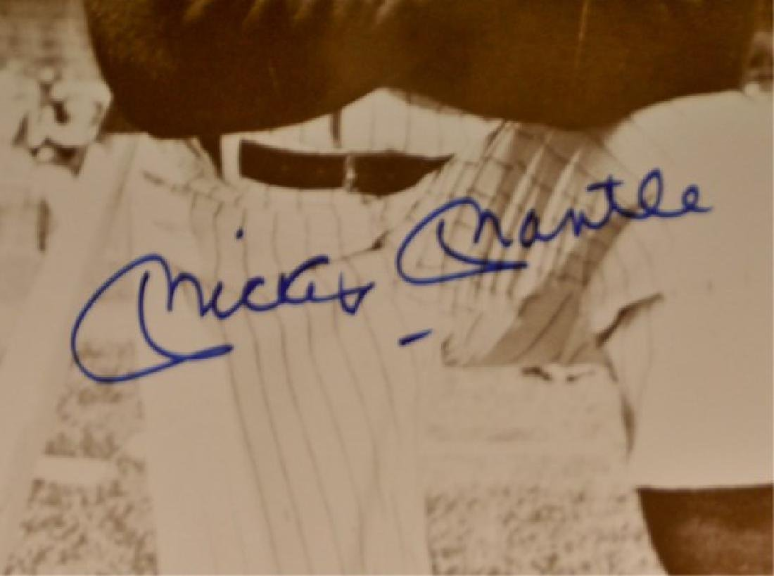 Mickey Mantle Autographed Photo - 3