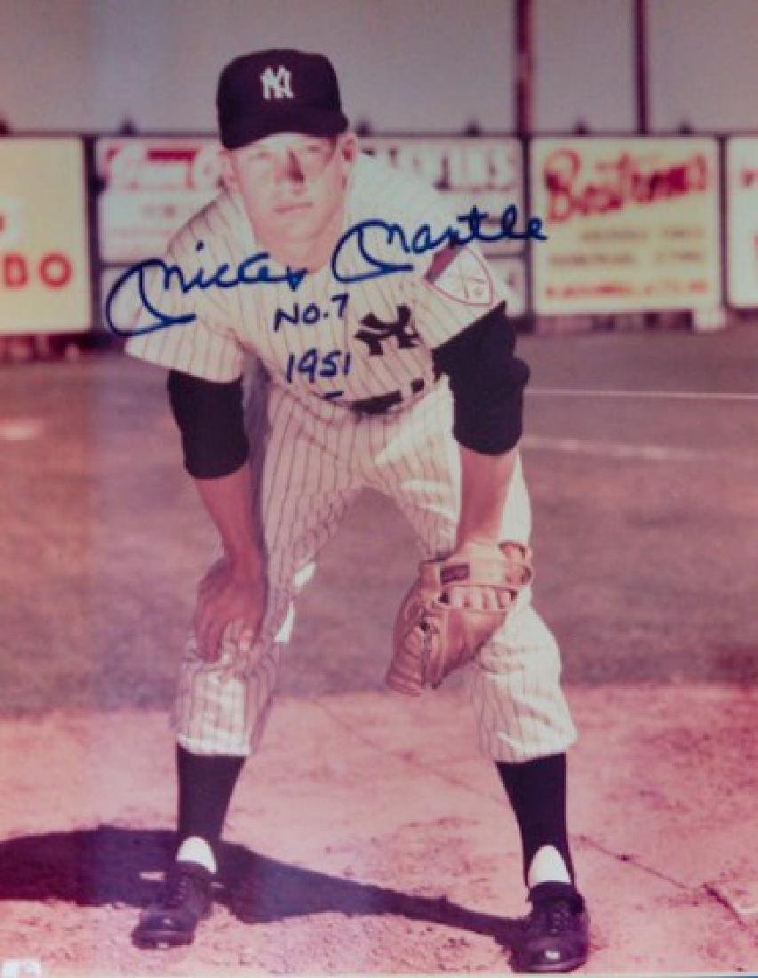 Mickey Mantle #7 1951 Autographed Photo - 2