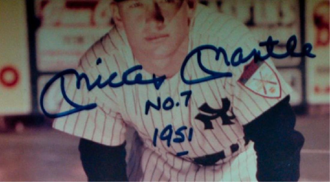 Mickey Mantle #7 1951 Autographed Photo - 3