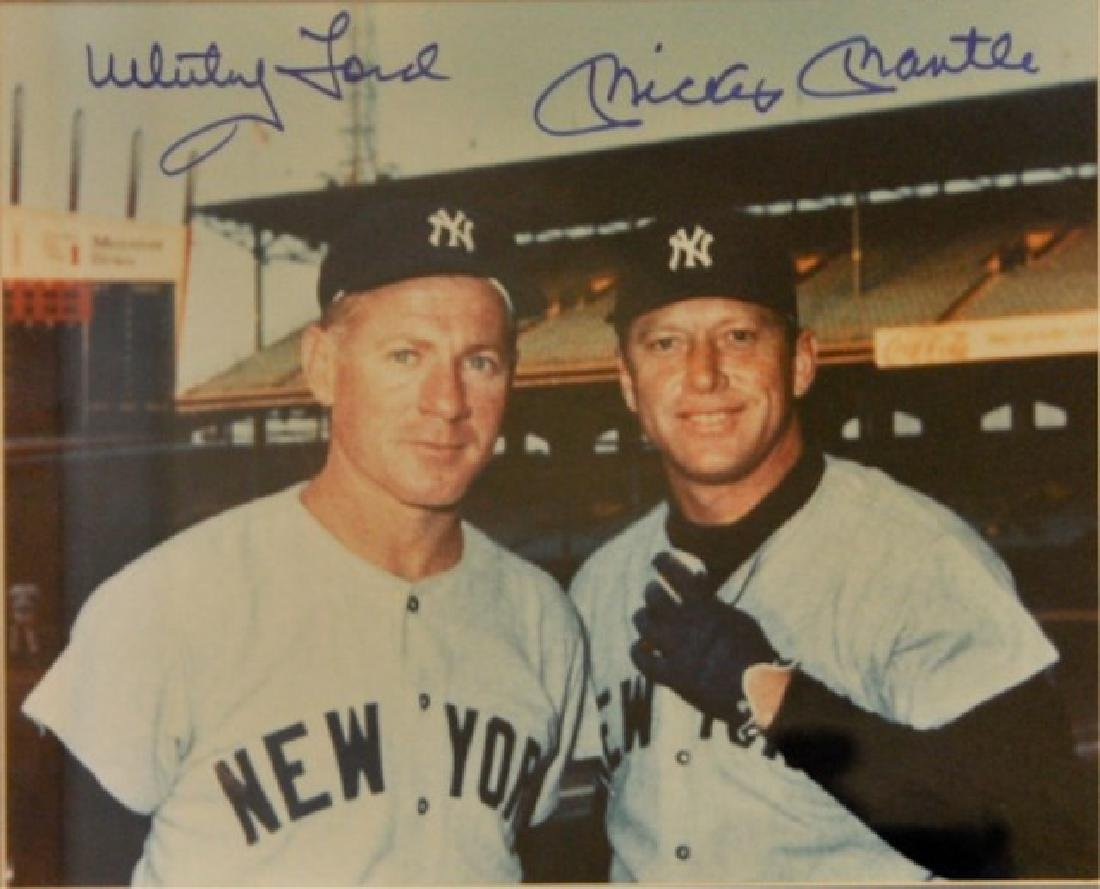 Whitey Ford & Mickey Mantle w/ World Series Ticket - 2