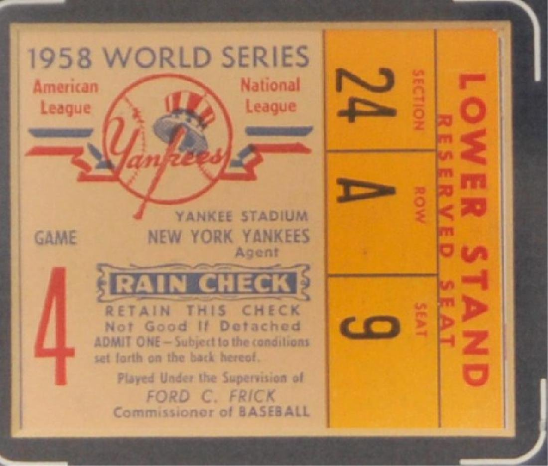 Whitey Ford & Mickey Mantle w/ World Series Ticket - 3
