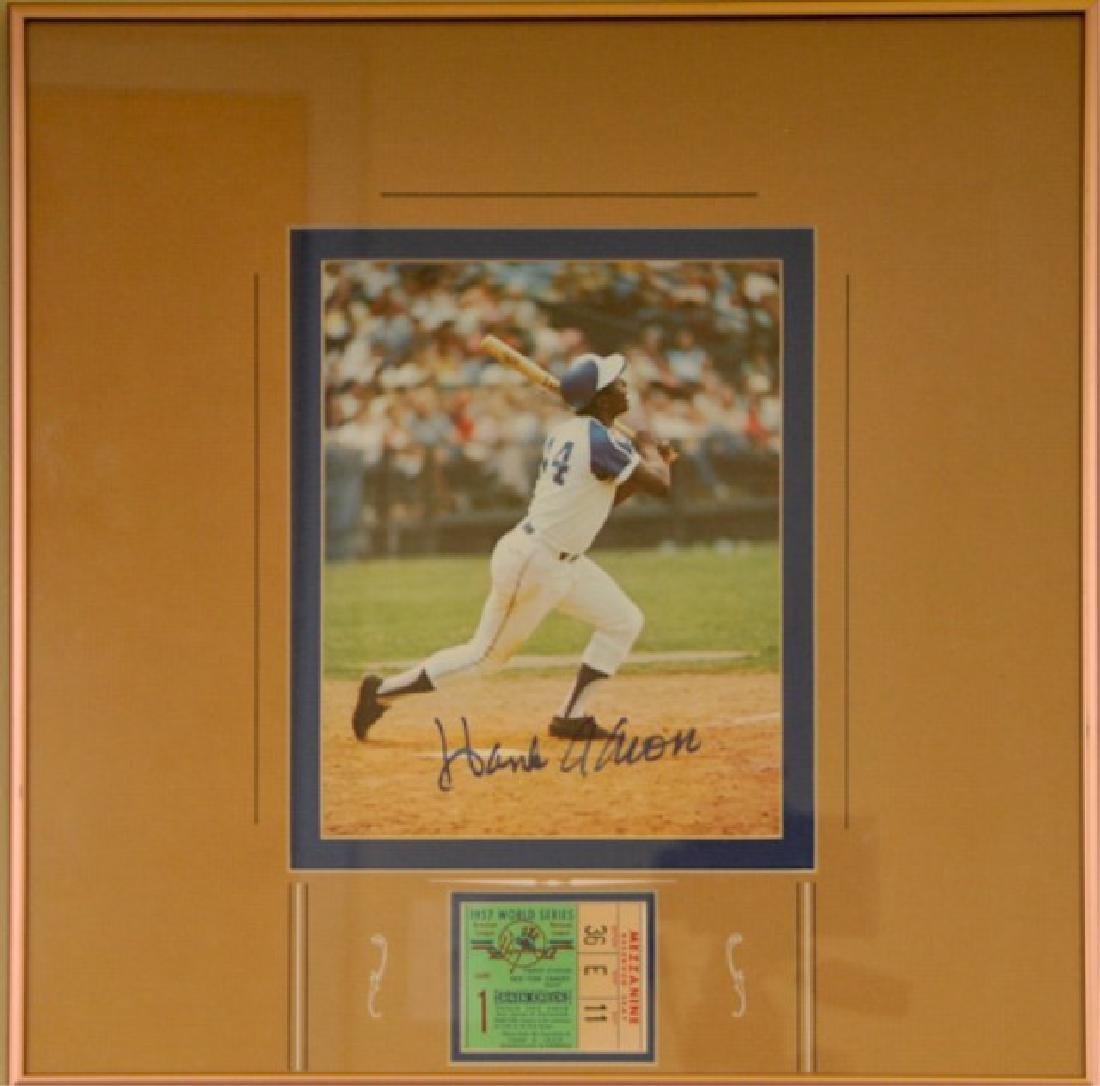 Hank Aaron & World Series Ticket
