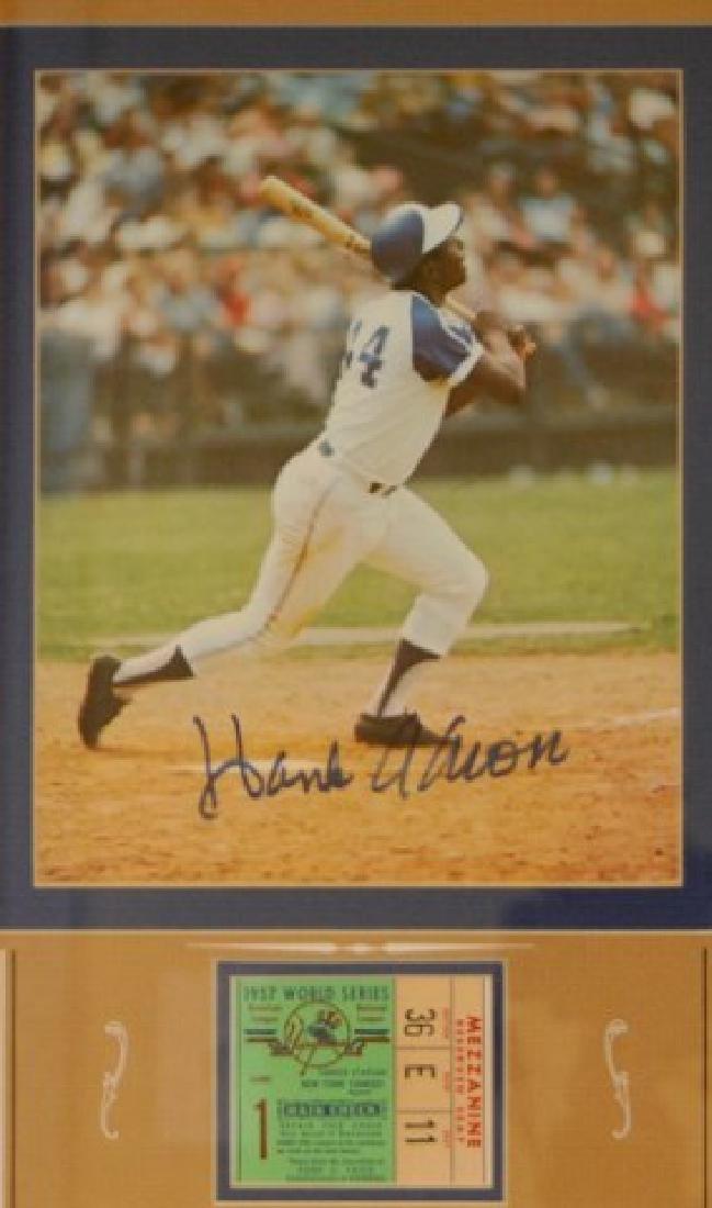 Hank Aaron & World Series Ticket - 2