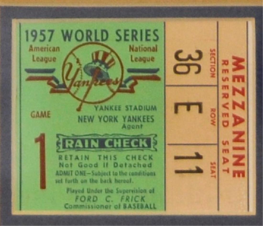 Hank Aaron & World Series Ticket - 4