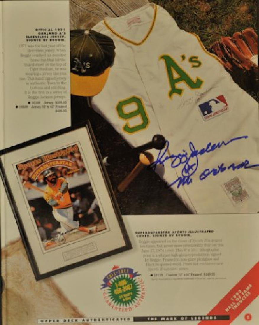 Reggie Jackson Signed Upper Deck Magazine - 2