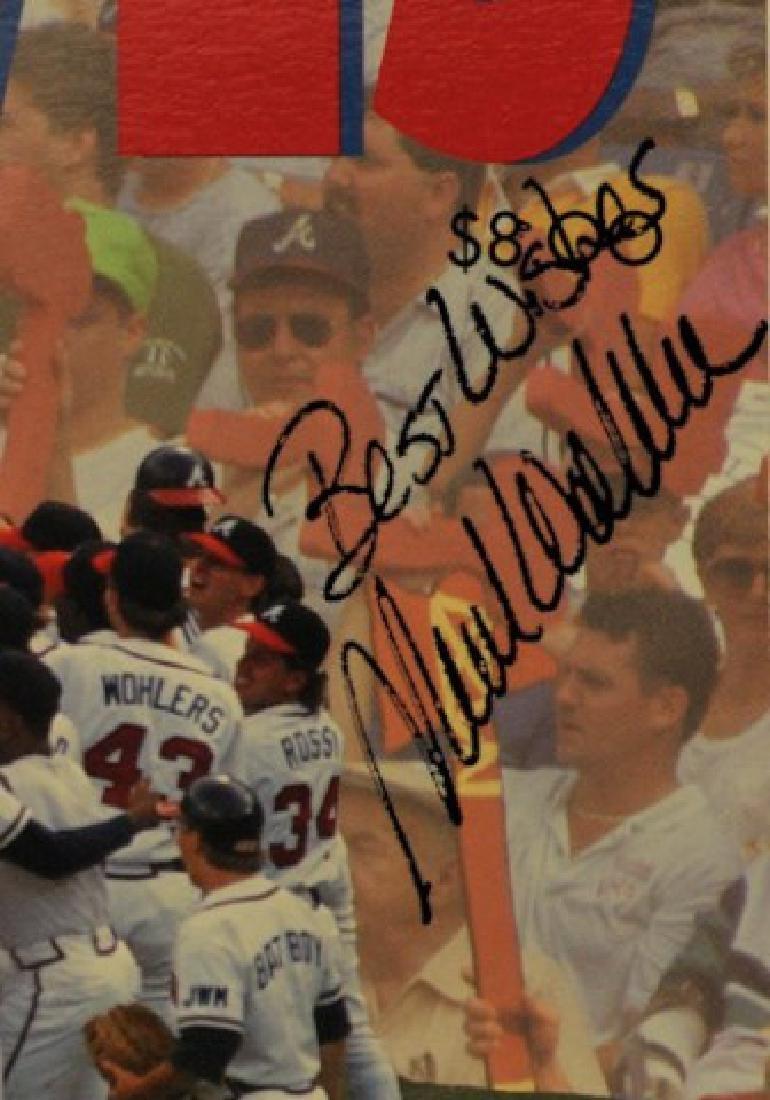 1992 Atlanta Braves Yearbook Signed Mark Wohlers - 2