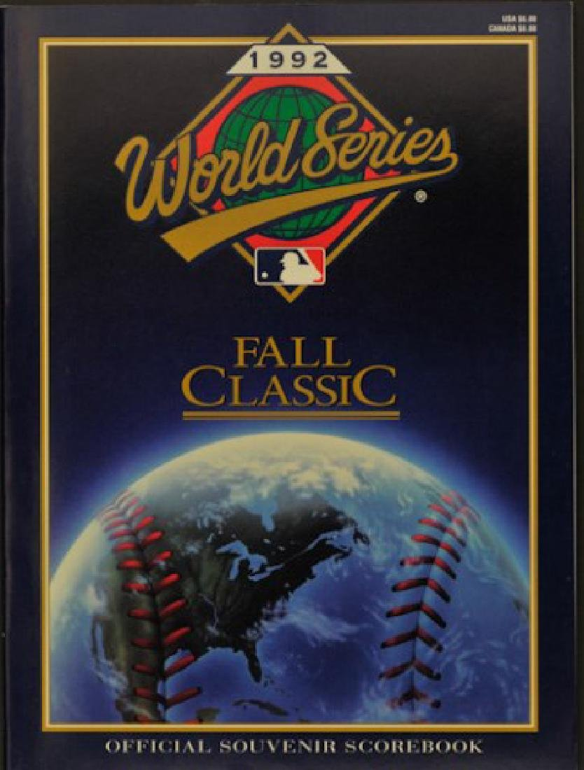 1992 Official World Series Souvenir Scorebook