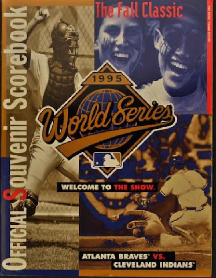 1995 Official World Series Souvenir Scorebook