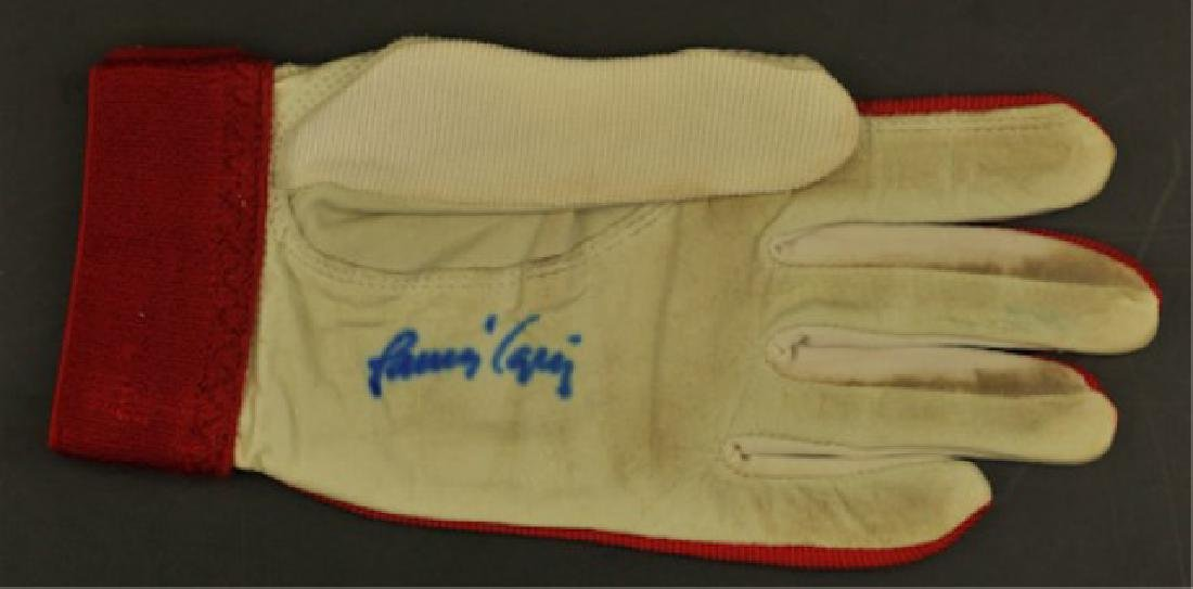 Game Used Batting Glove Signed Javier Lopez