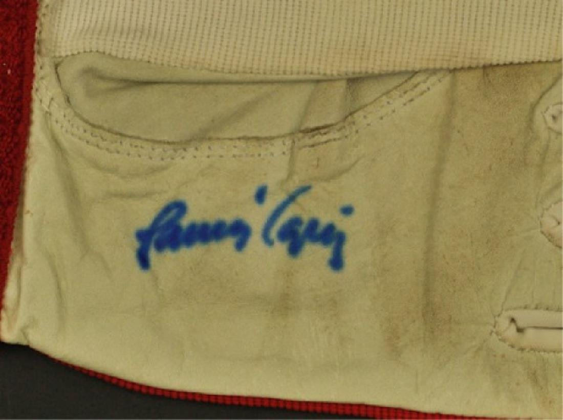 Game Used Batting Glove Signed Javier Lopez - 2
