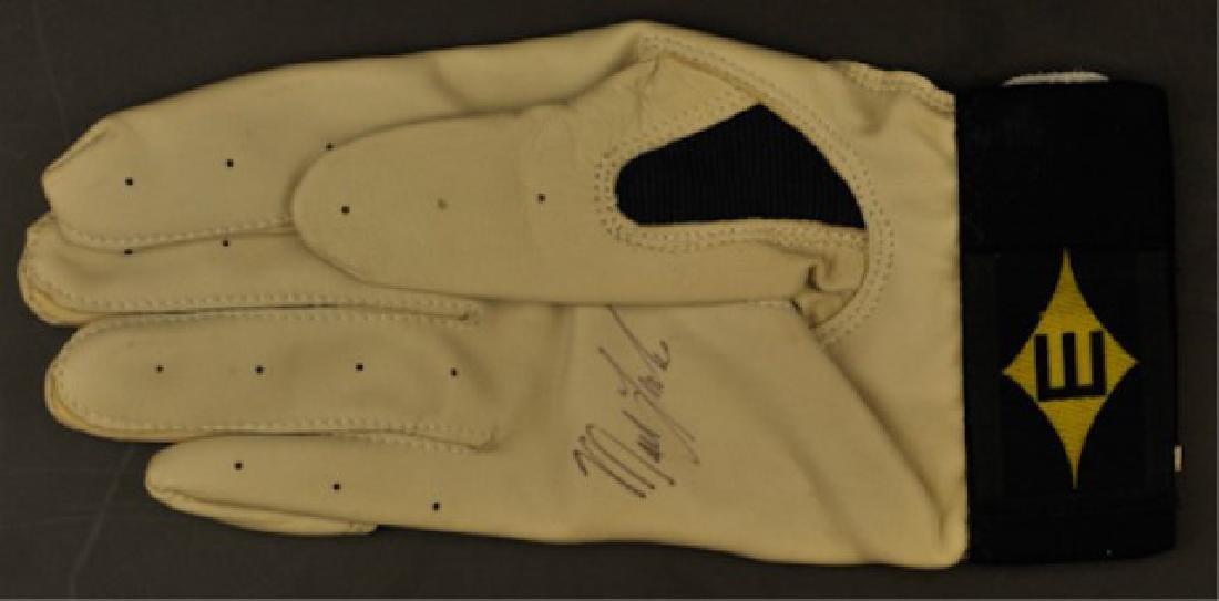 Jeff Blauser & Mark Lemke Signed Batting Glove - 3