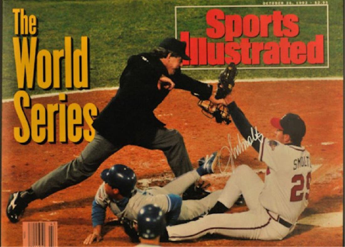 1992 Signed John Smoltz Sports Illustrated
