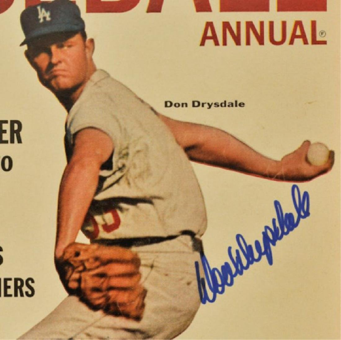 Signed Don Drysdale Official Baseball Annual - 2