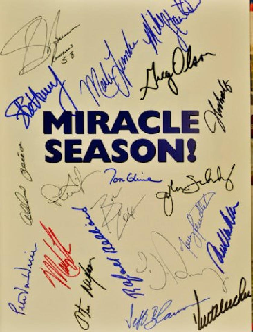 "Signed ""Miracle Season"" 1991 Atlanta Braves - 2"