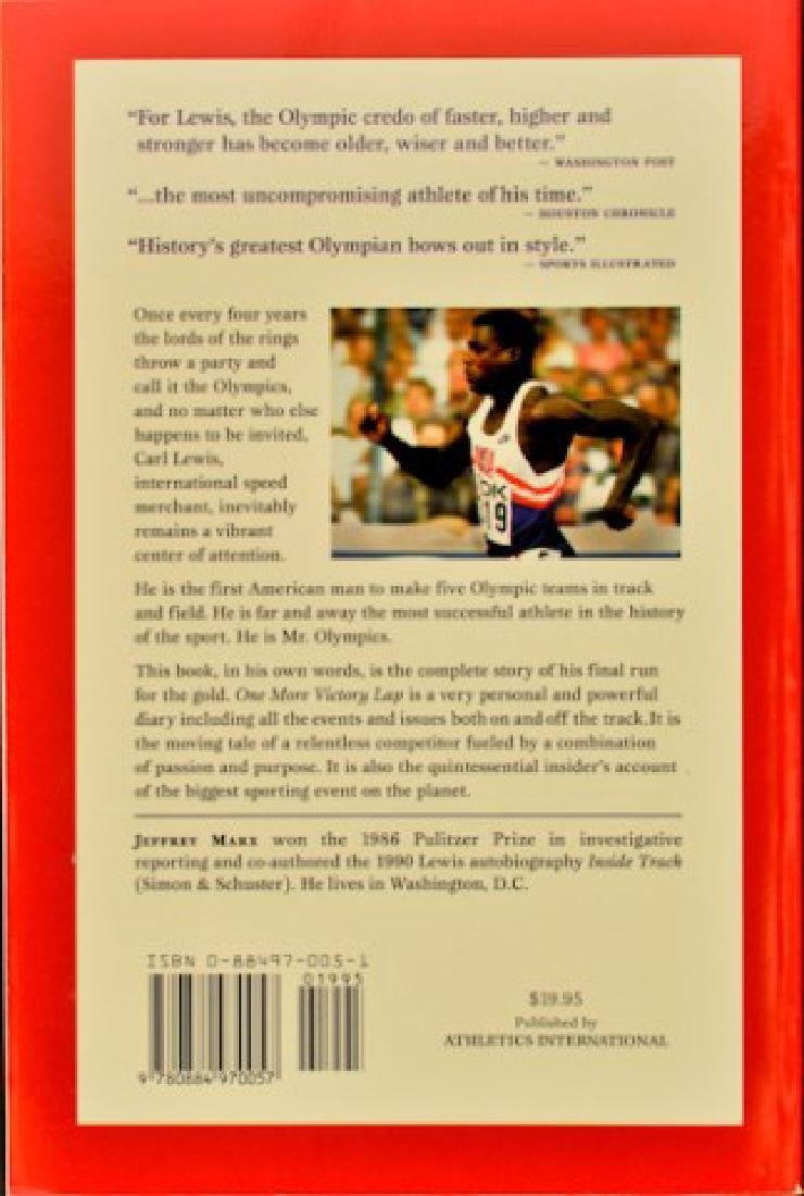 Carl Lewis Signed Book - 2