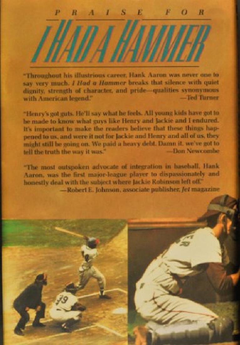"""Hank Aaron Signed Book """"I Had A Hammer"""""""