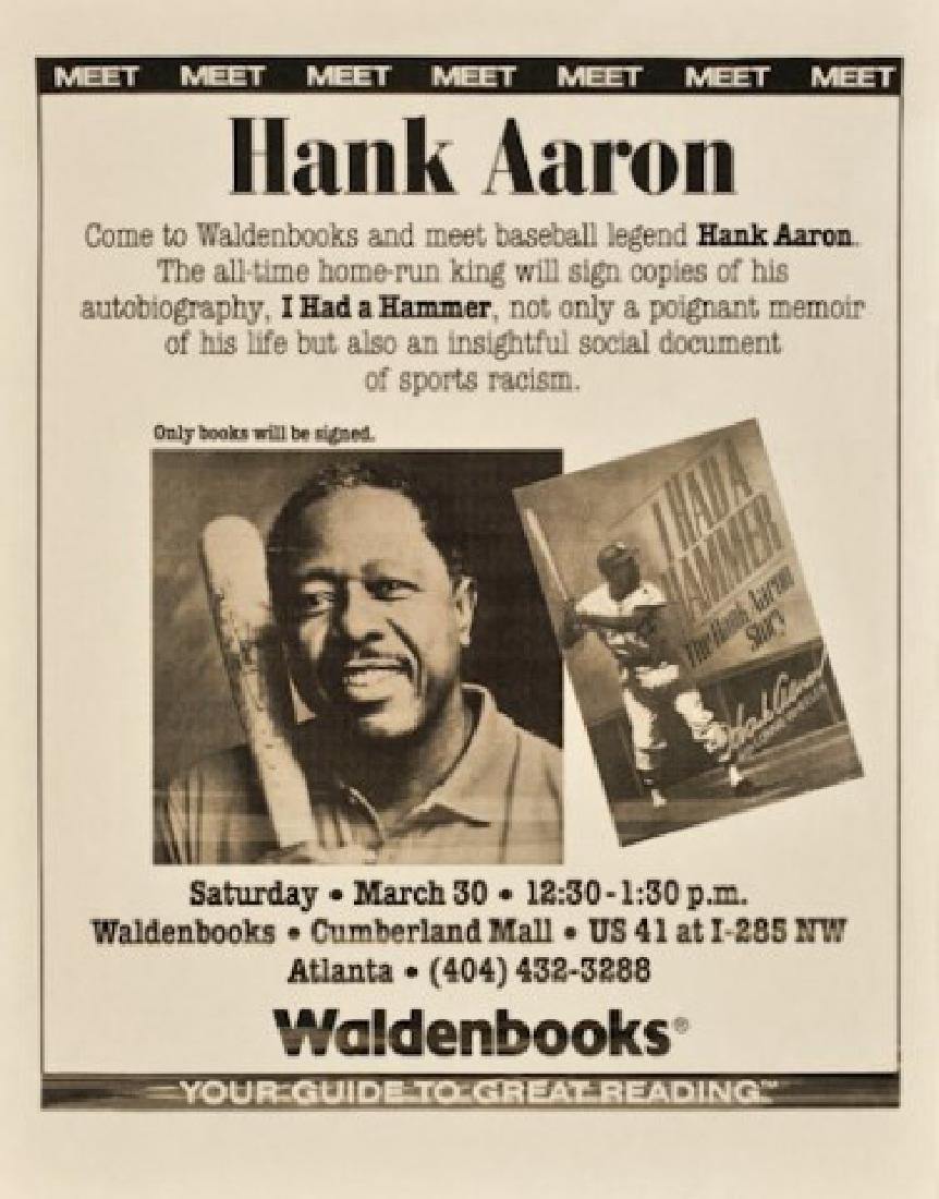 """Hank Aaron Signed Book """"I Had A Hammer"""" - 2"""