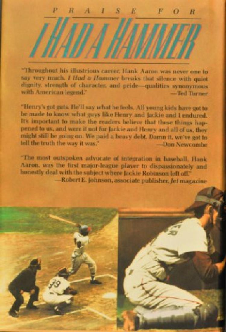 """Hank Aaron Signed Book """"I Had A Hammer"""" - 4"""