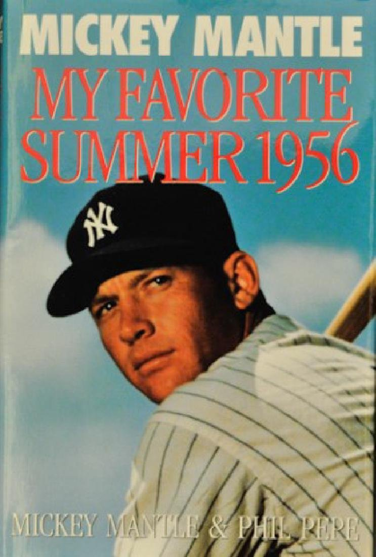"Signed Mickey Mantle ""My Favorite Summer 1956"""