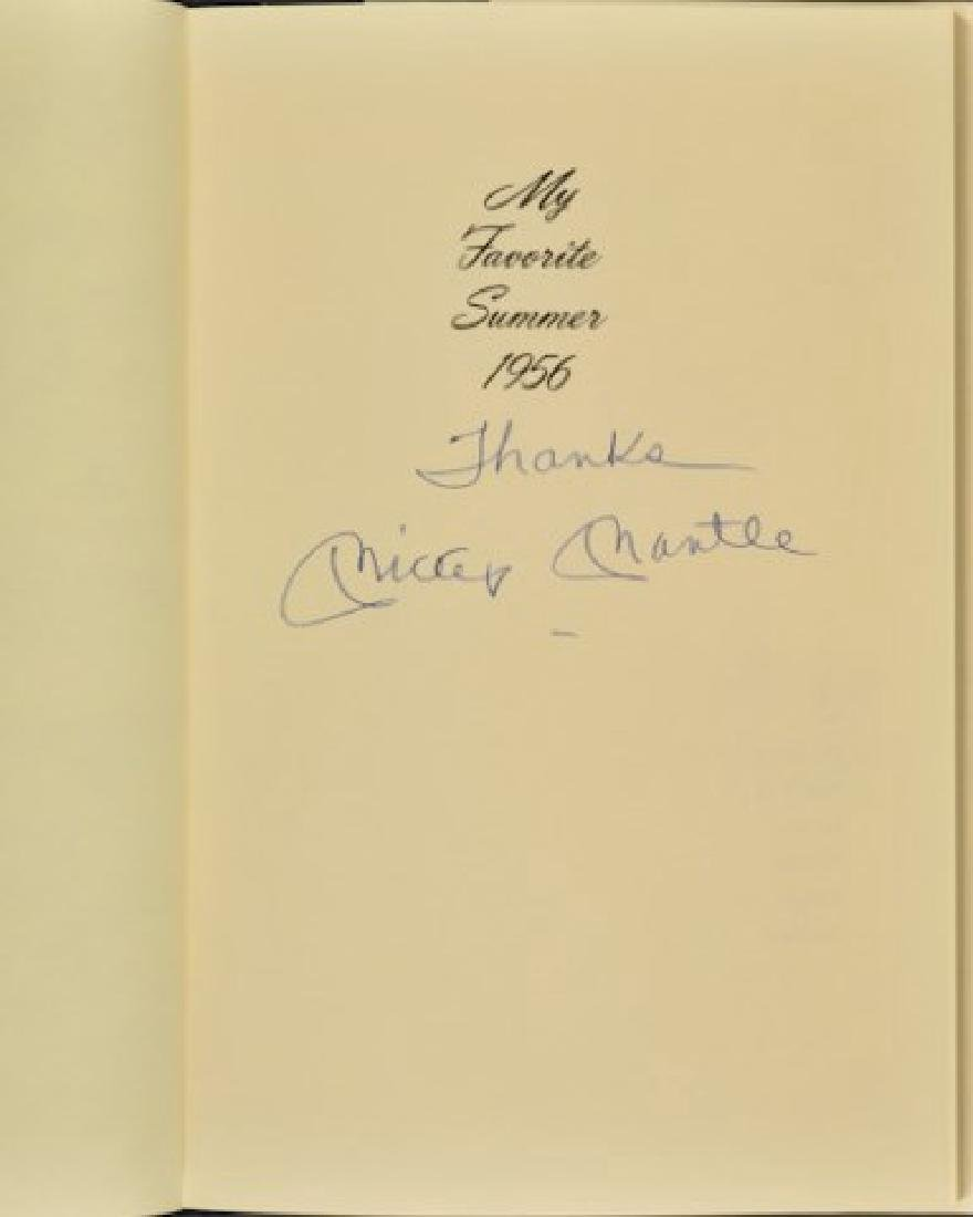 """Signed Mickey Mantle """"My Favorite Summer 1956"""" - 3"""