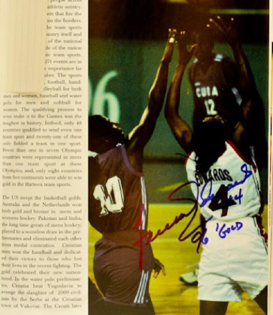1996 Olympics Book With Autographs - 4