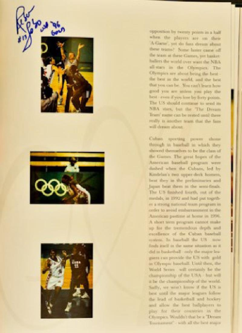 1996 Olympics Book With Autographs - 5