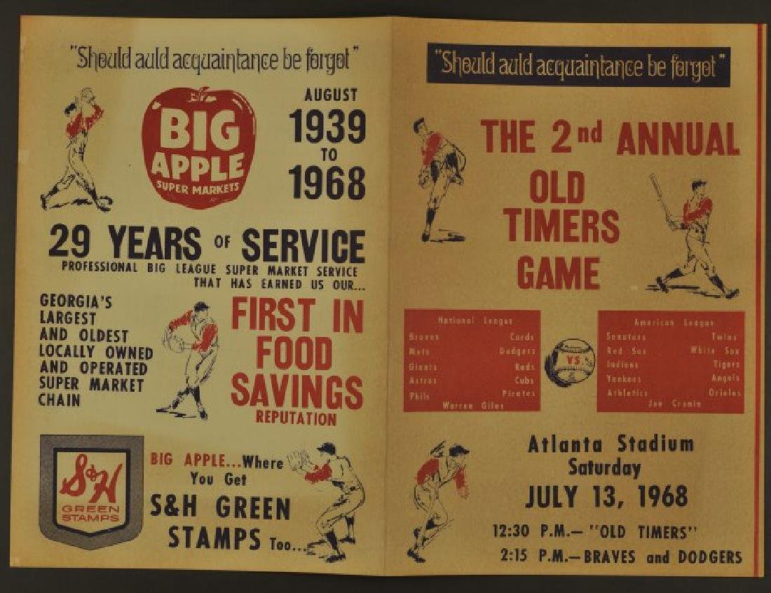 1968 Second Annual Old Timers Game Program - 3