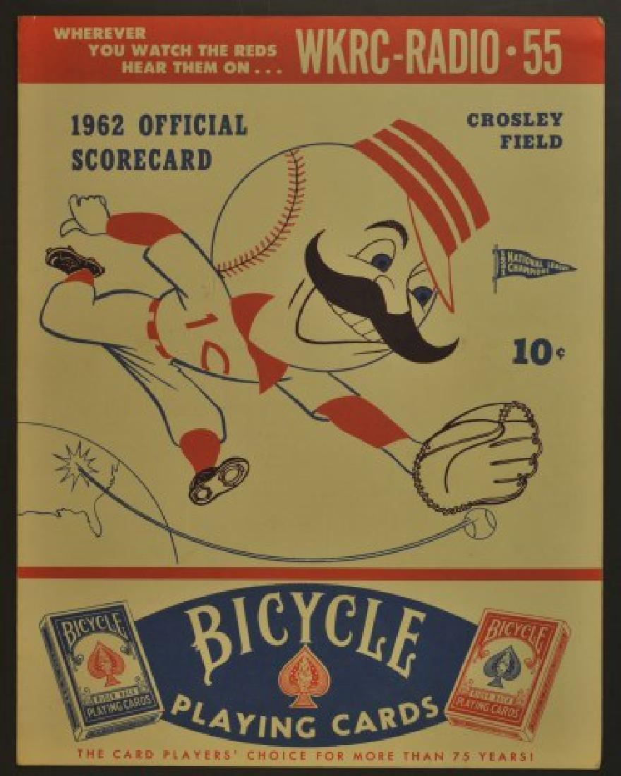 1962 Cincinnati Reds Official Scorecard