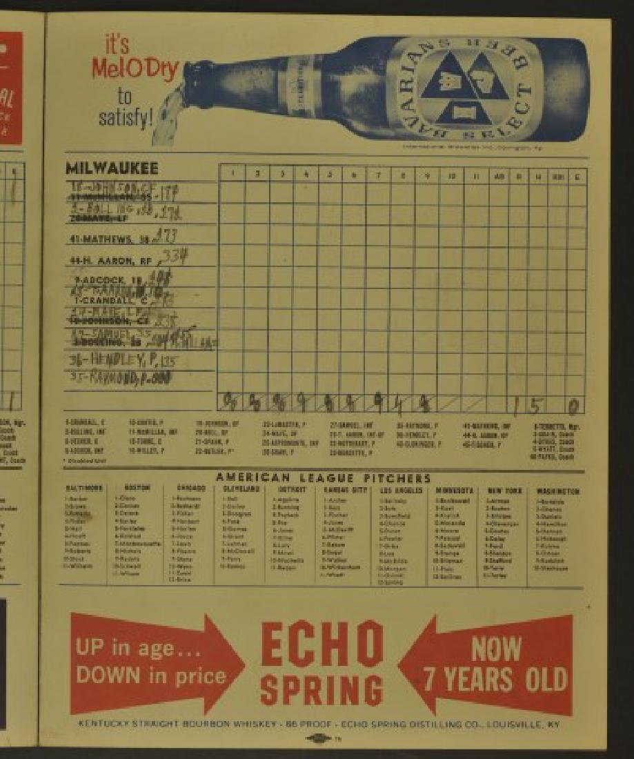 1962 Cincinnati Reds Official Scorecard - 3