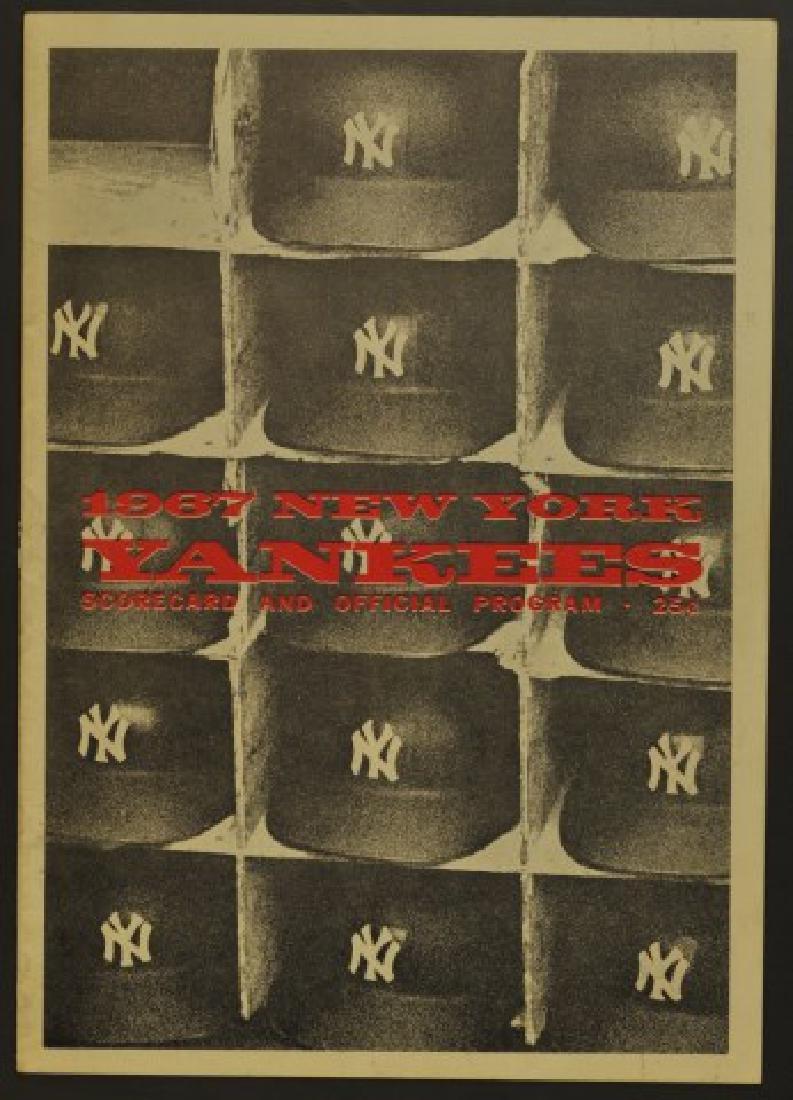 1967 Signed Yankees Scorecard / Official Program