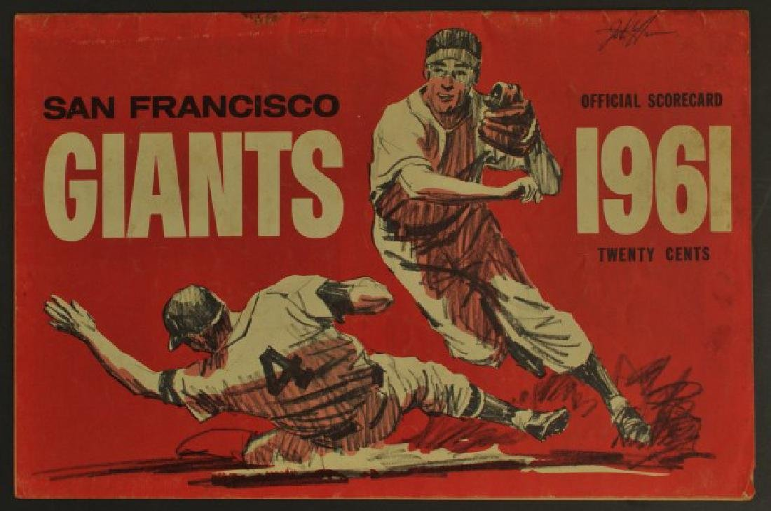 1961 Giants Official Scorecard
