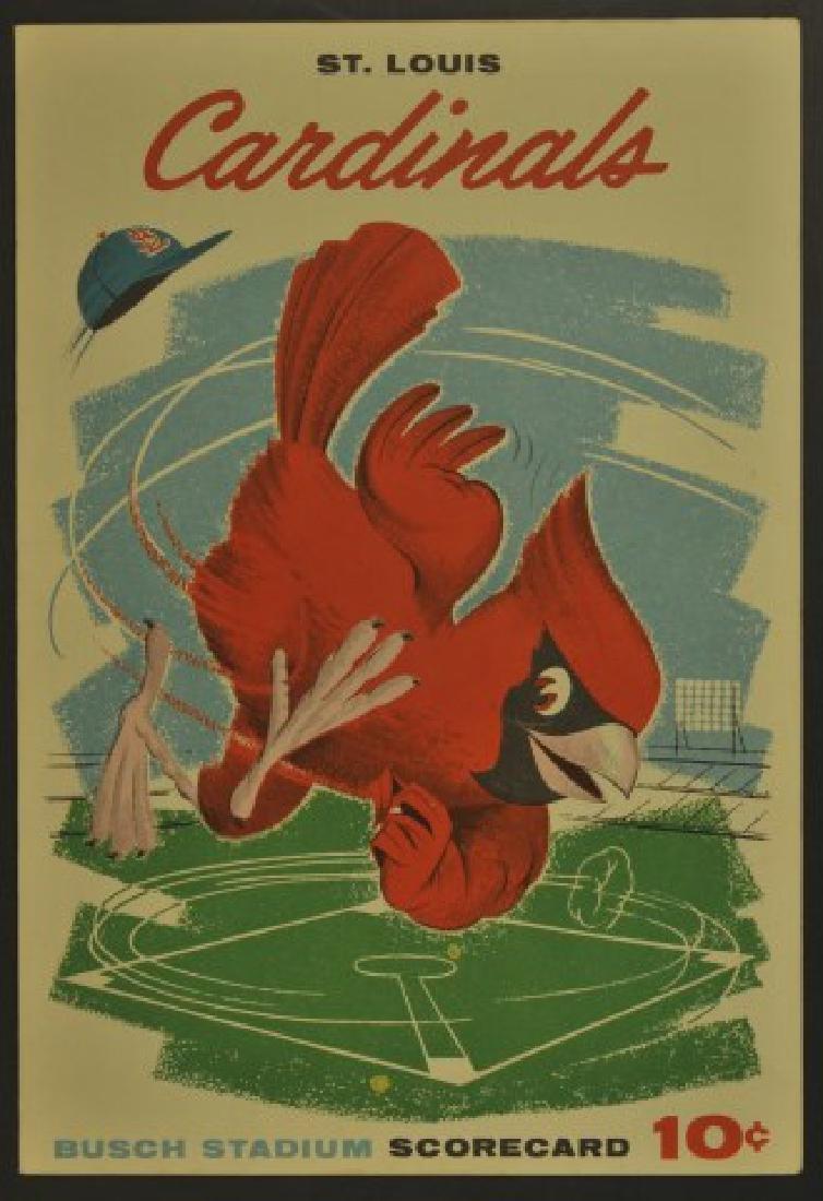 1960 Cardinals Official Scorecard