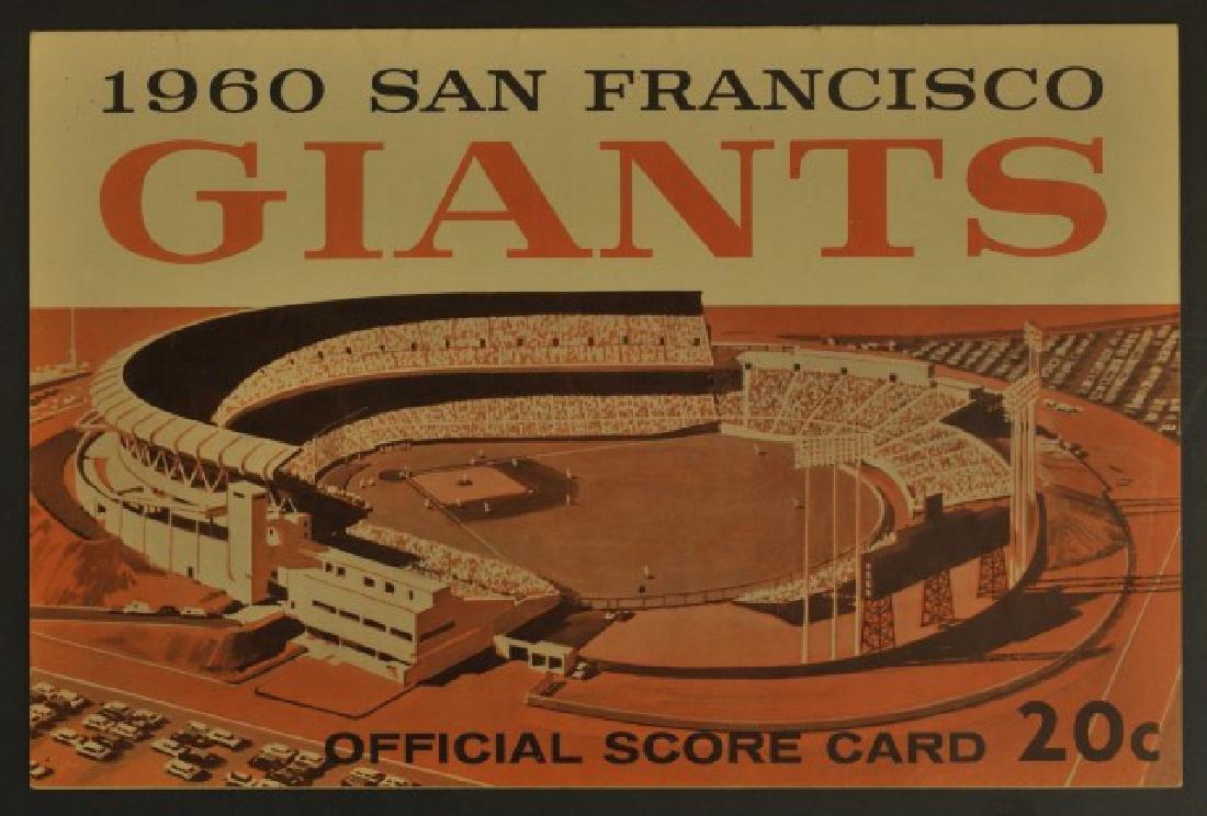1960 Giants Official Scorecard
