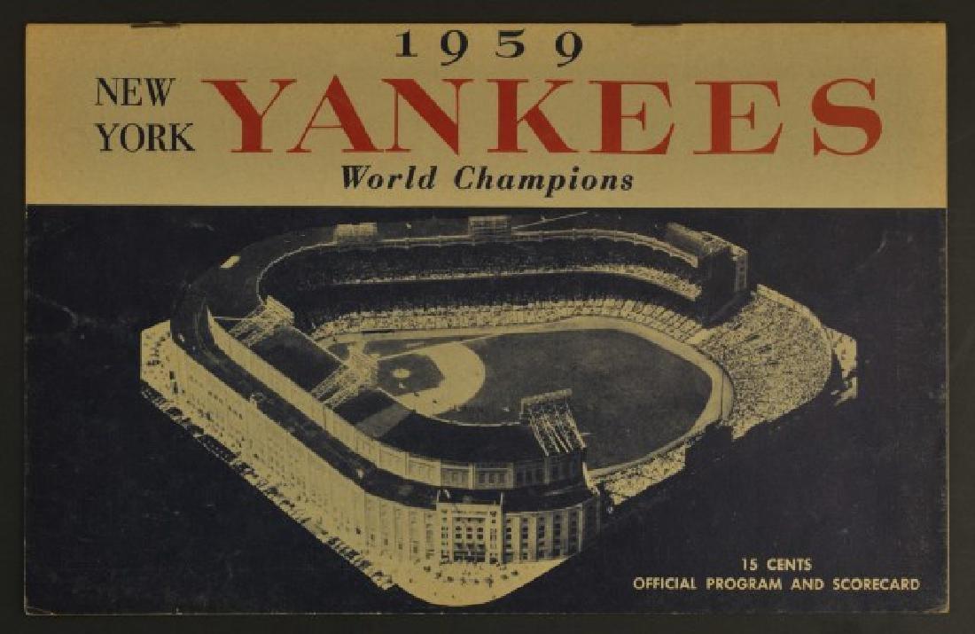 1959 Yankees Official Program & Scorecard