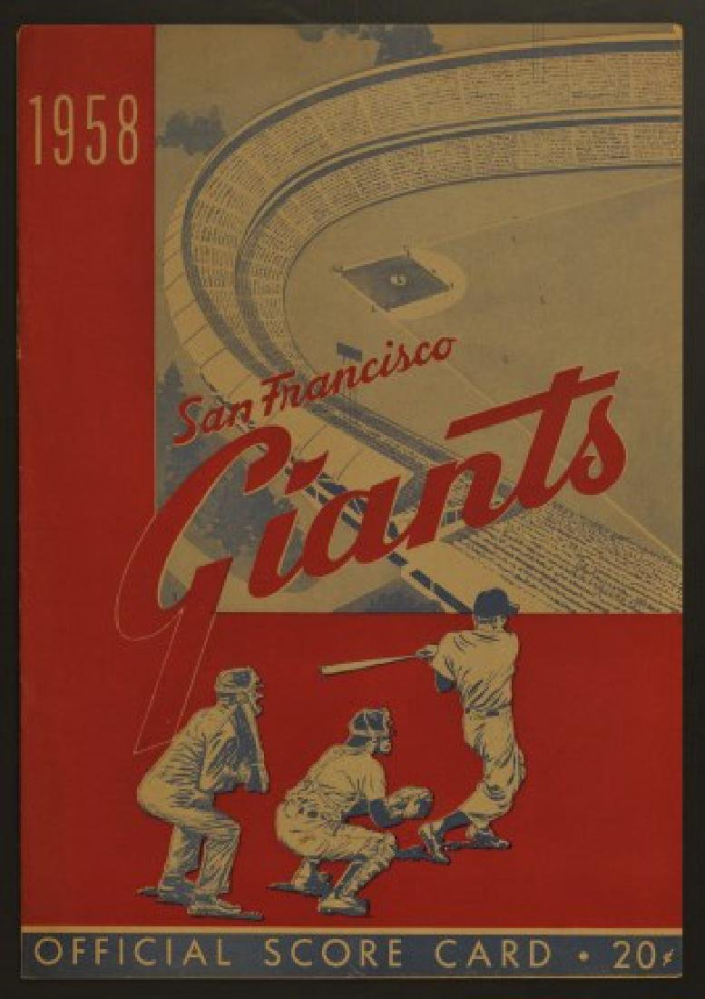 1958 Giants Official Scorecard