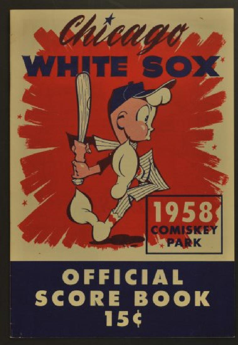 1958 White Sox Official Scorebook