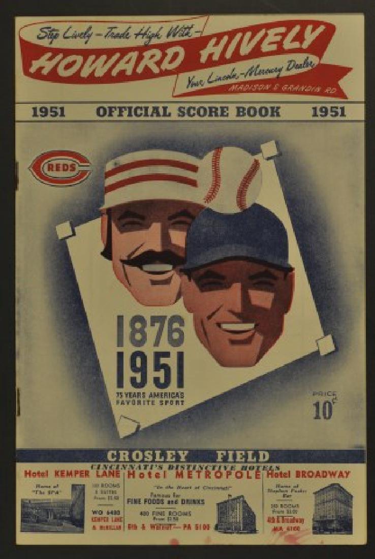 1951 Reds Official Scorebook