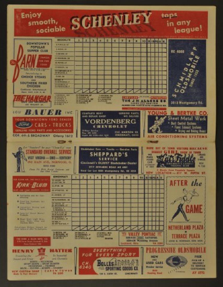 1951 Reds Official Scorebook - 2