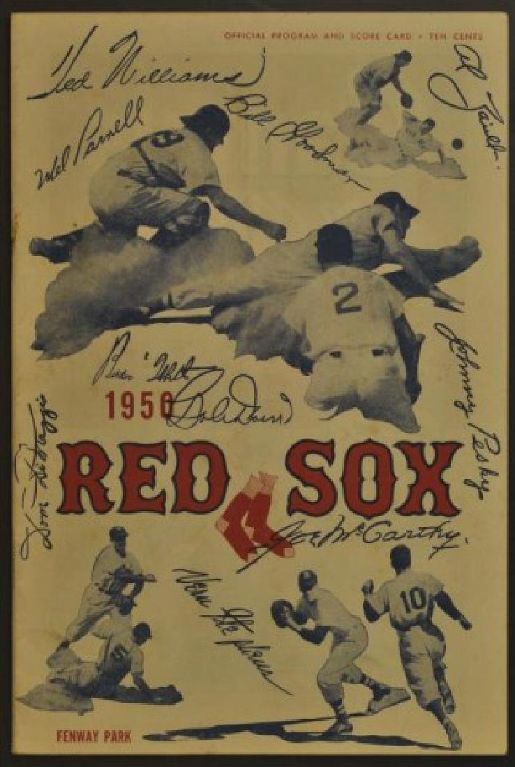 1950 Red Sox Official Program & Scorecard