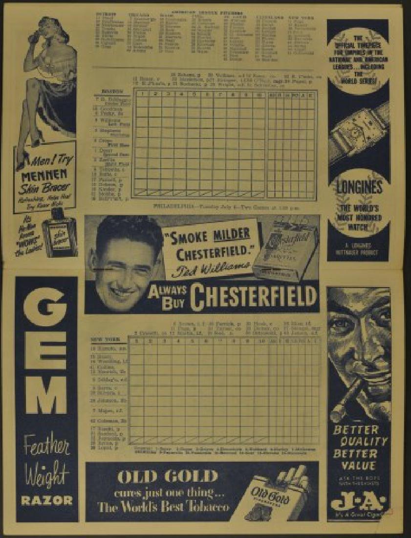 1950 Red Sox Official Program & Scorecard - 2